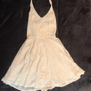 Abercrombie white lace halter dress